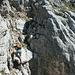 schön lngsam beginnt das Klettern
