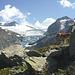 Links hinten unser ursprüngliches Ziel: die Trifthütte.