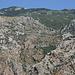 Rückblick zum Aufstiegsweg und der Festung Sveti Ivan