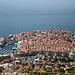 Tiefblick auf die roten Dächer von Dubrovnik