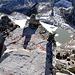 Chuebodenhorn 3070mt, la cima con il gamellino con il libro di vetta.