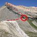 Der Ostrücken von Schwarzhorn und Gelbhorn. DieSchlüsselstelle ist rot eingekreist. Siehe allerdings [http://www.hikr.org/tour/post15450.html die bessere Variante] von [u AlpinHero]