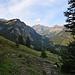 Blick hinunter zur Alp Gula
