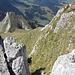 Der Schlussanstieg vom Gipfel aus gesehen.