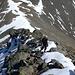 Aufstieg vom Sattel Richtung Gipfel.