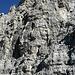 die Felsen des Gipfelturmes