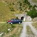 il parcheggio all'Alpe Cadinello