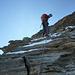 ...im Abstieg: Abseilen im Dach