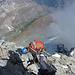 ...im Abstieg: Abseilen am Grat