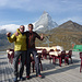 ..nach erholsamer Nacht am Schwarzsee; das Gipfelteam Dirk und hgu.