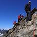 Die letzten Meter vor dem Gipfel zur Dreiländerspitze. Viel Luft unter den Beinen!
