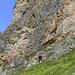 Der Einstieg zum Klettersteig am Roßkopf