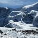 Die prächtige Nordflanke des Mont Brulé. Mein Traumgrat zieht von rechts nach links zum Gipfel.