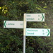Wegweiser in Niedernach