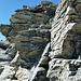 die Kletterstelle im Detail