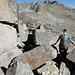 Descente dur les blocs de pierres au Risihorn