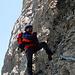 2003: Glaube es war mein erster Klettersteig mit einem Set, noch etwas am üben mit dem Gehänge…