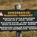 In gewissen Teilen des Velebit (unter anderen in dieser Gegend) herrscht leider noch immer akute Landminengefahr und die markierten Wege sollten nicht verlassen werden!