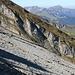 Der Blick zum Speer und Co. etwas unterhalb des Gipfels