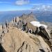 Am Gipfel mit Blick auf die östlichen Zähne und die Waadländer Alpen.