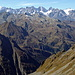 Eindückliche Aussicht zur Mont Blanc Gruppe.
