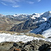 Rechts Pigne d`Arolla und Mont Blanc de Cheilon.
