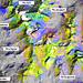 Falschfarben-Satellitenbild der Jenatsch-Region