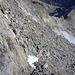 Abstieg vom SW-Grat, das Geröllfeld der Südwand querend