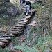 Ingegnosa scalinata lungo il percorso.