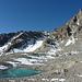 Die Aguoglia d'Es-cha mit kleinem Bergsee