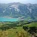 Brienz am Brienzer See mit Hausberg Brienzer Rothorn.