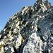 das ist die luftige Kraxelstelle am Gipfel des Axalphorns.