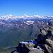 Ausblick über den Alpenkranz vom Gipfel des Basòdino
