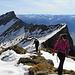 Dem Gipfel entgegen: Auf dem Südgrat des Falknis