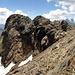 la cresta terminale, vista dall'ometto a 3130 m circa.