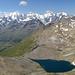 il Gruppo del Bernina visto dalla vetta.