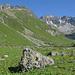 Val Urschai, links Piz Urschai Dadoura, ganz rechts Piz Futschöl