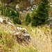 Ein luftiger Vermessungspunkt bei der Brücke P. 1677m hoch über dem Bergbach Rein da Nalps. Beo geologischen Arbeiten in den Alpen sollte man schon schwindelfrei sein... ;-)