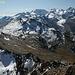 Panorama dalla cima verso la regione del Bernina e il Lago Bianco.