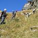 ripida discesa nel canalone verso Alpe Deccia