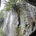 La famosa scalinata, vista dall'interno della grotta