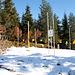 Schneehöhenmessstation für den Lawinenwarndienst<br />An der Messlatte 12 cm Neuschnee