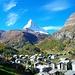 Erste Ausblicke aufs Matterhorn von der Gornergratbahn aus