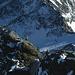 Die kärntner Zweierseilschaft im Abstieg am Gipfel des Kleinglockners.