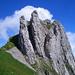 Schafbergturm von Westen – Aufstieg durch das rechte Kamin