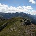 Auf dem Gipfel des Piz S-Chalambert Dadora