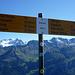 Der Gipfelwegweiser - mehr Frust statt Freude - nochmal 2h10min bis Brünig.