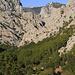 Blick zurück in die grosse Schlucht (Velika Planica), rechte der Bildmitte der Anica kuk