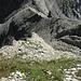 Gross Chilchberg: Tiefblick auf den bevorstehenden Abstieg