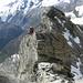 Der Block vor dem Gipfel.